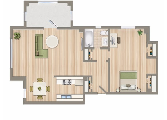 884-Square-Foot-One-Bedroom-Apartment-Floorplan-Available-For-Rent-2800-Woodley-Road